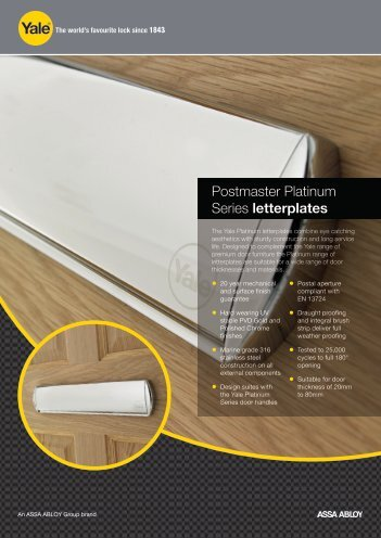 Postmaster Platinum Letterplate - Yale Door and Window Solutions ...