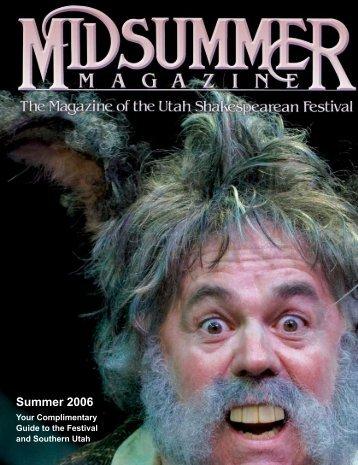 Summer 2006 - Utah Shakespearean Festival