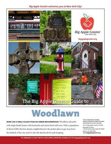Woodlawn Neighborhood Profile - Big Apple Greeter