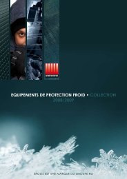 equipements de protection froid • collection 2008/2009 - Groupe RG