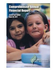 Comprehensive Annual Financial Report - Howard County Public ...