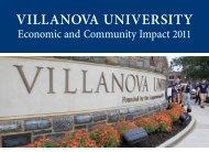 2011 Economic and Community Impact Report. - Villanova University