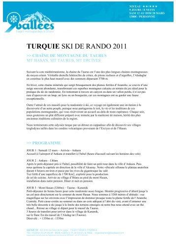 TURQUIE SKI DE RANDO 2011 - Ski Safari 9 vallées