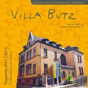 Programm Sept. 2012 – Aug. 2013 - Haus der Familie Göppingen