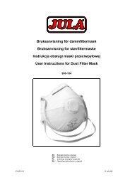 Bruksanvisning för dammfiltermask Bruksanvisning for ... - Jula