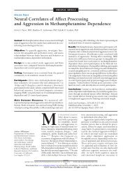 Neural Correlates of Affect Processing and Aggression in ...