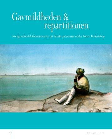 Gavmildheden & repartitionen - Siden Saxo