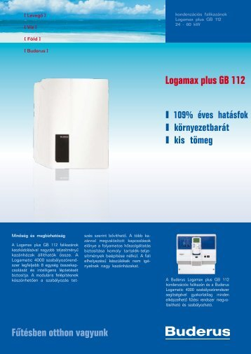 Logamax plus GB 112 - Buderus