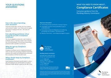 Compliance Certificates (836KB) - Plumbing Industry Commission
