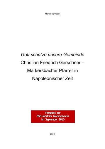Christian Friedrich Gerschner - Markersbacher Pfarrer in ...