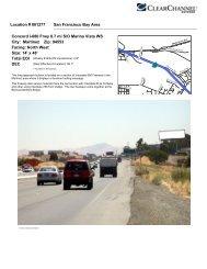 Location # 001277 San Francisco Bay Area Concord I-680 Frwy 0.7 ...