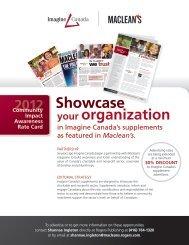 2012 Community Impact Awareness Rate Card - Imagine Canada