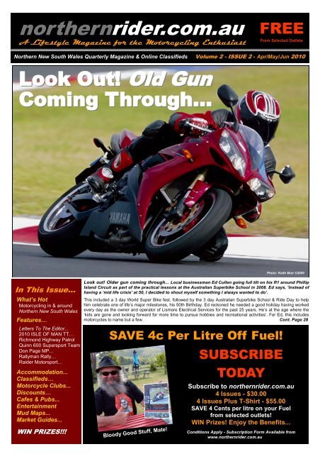 South Wales Superbikes >> Northern New South Wales Quarterly Magazine Northern Rider