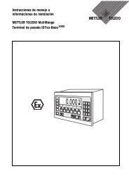 Instrucciones de manejo e informaciones de instalación METTLER ...