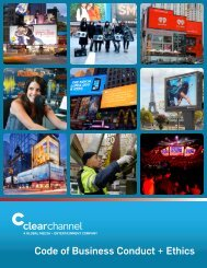 English - Clear Channel Communications