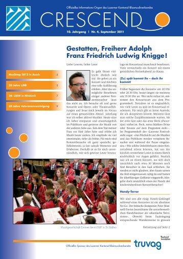 Ausgabe 04/2011 - Luzerner Kantonal-Blasmusikverband