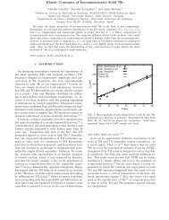 Elastic Constants of Incommensurate Solid 4He - DR. CLAUDIO ...