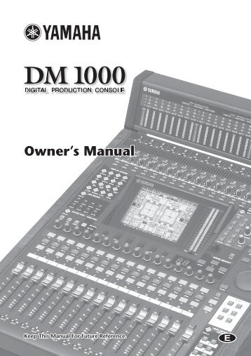 Yamaha - DM1000 Digital Production Console - Synergy Audio