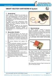 SMART HEATER VARITHERM HI System - Intertec-Hess GmbH
