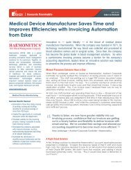 Medical Device Manufacturer Saves Time and Improves ... - Esker