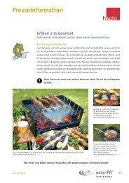 Grillen a la Gourmet - hecht-international GmbH