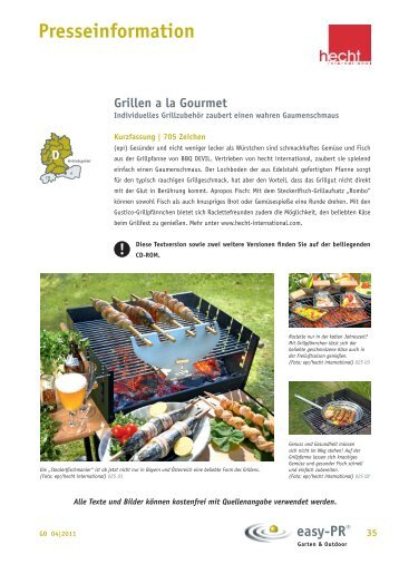 Grillen a la Gourmet - hecht-international GmbH