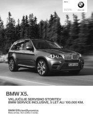 Prenos podatkov Trenutne cene za BMW X5 M (PDF, 0.23 MB).
