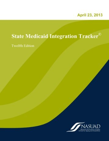 State Medicaid Integration Tracker - National Association of States ...