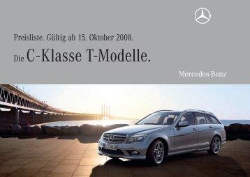 Die C - Klasse T-Modelle. - Preislisten