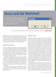 Jesus und die Wahrheit - Ethos
