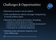 Challenges & Opportunities - IHDP