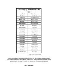 The Diary of Anne Frank Vocabulary List