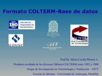 Formato COLTERM - Escuela de Idiomas - Universidad de Antioquia