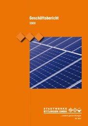 Geschäftsbericht 2009 - Stadtwerke Ettlingen GmbH