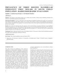 prevalence of three rooted mandibular permanent first ... - Aosr.co.in