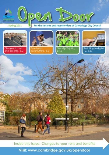 Open Door - spring 2011 [PDF] - Cambridge City Council