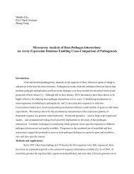 Microarray Analysis of Host-Pathogen Interactions: An Array ...