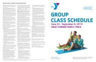 Group Class Summer Schedule - YMCA of Greater Seattle