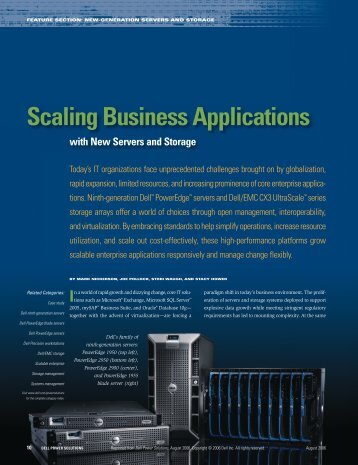 Scaling Business Applications with New Servers and Storage - Dell