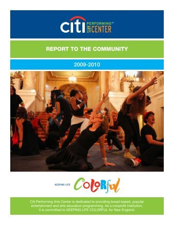 report to the community 2009-2010 - Citi Performing Arts Center
