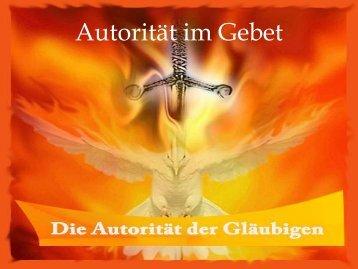 Autorität im Gebet