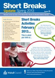 latest newsletter - Walsall Children's Services Directory