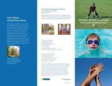 CON1770 - Sports Camps Brochure 2 - University Housing ...