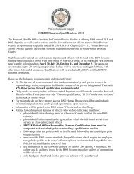 HR 218 Firearms Qualifications 2011 - Broward Sheriff's Office