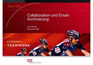 Collaboration und Email- Archivierung - CSC