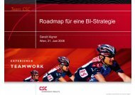 Roadmap für eine BI-Strategie - CSC