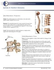 complexities and motions of the spine - Spinal Research Foundation