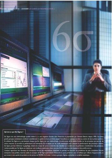 Satisfaction client et qualite : les sept avantages de Six Sigma ... - CSC