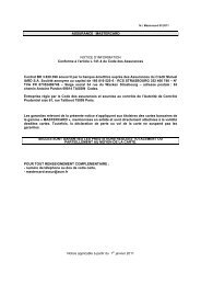ASSURANCE MASTERCARD NOTICE D'INFORMATION ... - CIC