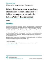 Winter distribution and abundance of mountain caribou in relation to ...